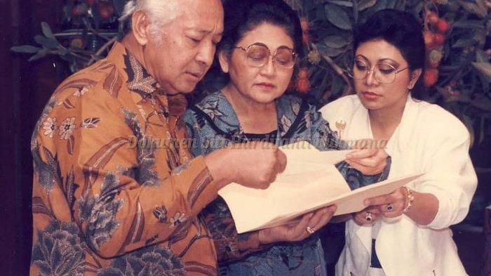 Soeharto, Siti Hartinah, dan Tutut Soeharto