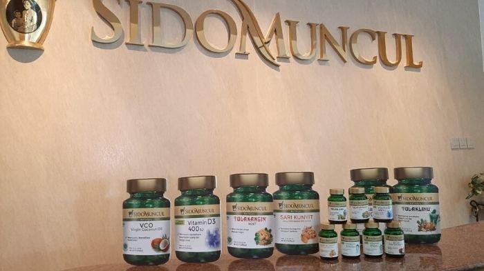 PT Jamu dan Farmasi Sido Muncul, Tbk meluncurkan tujuh produk terbaru Food Supplemen di Kantor Sido Muncul, Jakarta Selatan, Kamis (20/2/2020) siang. Tribunnews/Dea Duta Aulia