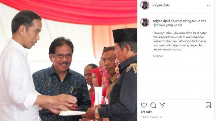Sofyan Djalil beri ucapan selamat ulang tahun kepada Jokowi,