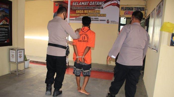 Cabuli Gadis Berusia 17 Tahun, Sopir Truk Ini Kini Mendekam di Tahanan Polsek Pringsewu Kota