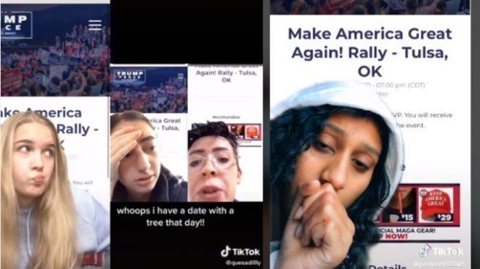 Pengguna TikTok Sabotase Kampanye Donald Trump, Pesan Tiket tapi Tak Hadiri Acara