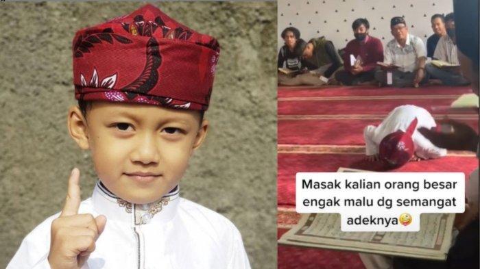 Sosok Jibril, Anak Kecil yang Ketiduran saat Sujud Salat Jumat, Sering Ikut sang Ayah Tausiyah