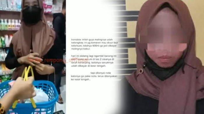 Cerita Cewek Mencuri Skincare di Swalayan Tulungagung, Begini Nasibnya Kini