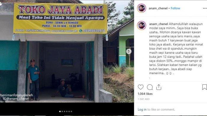 Pengakuan Khoirul Anam, Pembuat Spanduk Viral Toko Tak Jual Apa-apa, Fans Berat Sule