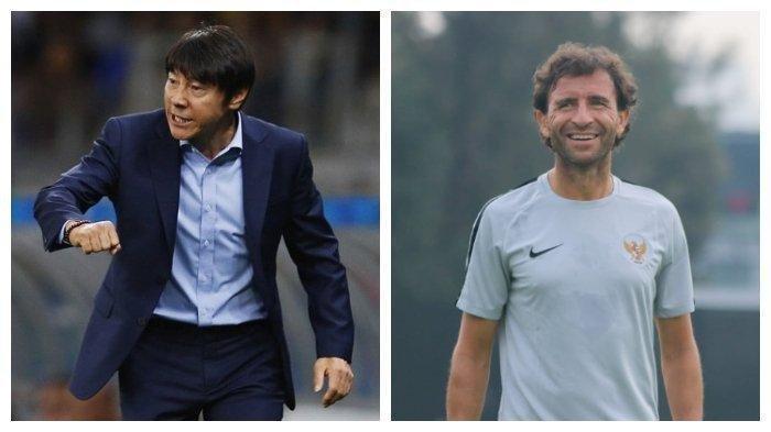 Kolase foto Shin Tae-yong (kiri) dan Luis Milla (kanan)
