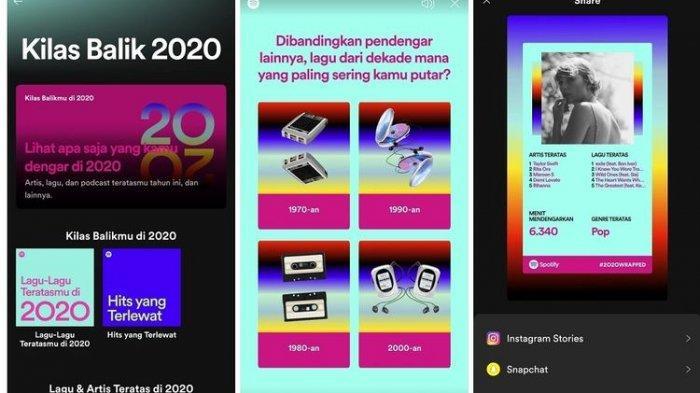 Cara Membuat Spotify Wrapped 2020 Untuk Pengguna Spotify Premium Gratis Bisa Dibagikan Ke Medsos Tribunnews Com Mobile