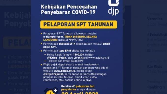 Ditjen Pajak Perpanjang Batas Waktu Pelaporan Spt Tahunan Hingga 30 April 2020 Tribunnews Com Mobile