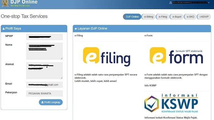 Login Djp Online Pajak Cara Lapor Spt Tahunan Secara Online Pakai E Filling Tribunnews Com Mobile