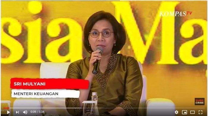 Tangkap Layar YouTube KompasTV <a href='https://pontianak.tribunnews.com/tag/sri-mulyani' title='SriMulyani'>SriMulyani</a> dalam peringatan Hari Ibu yang diselenggarakan BPIP di Jakarta