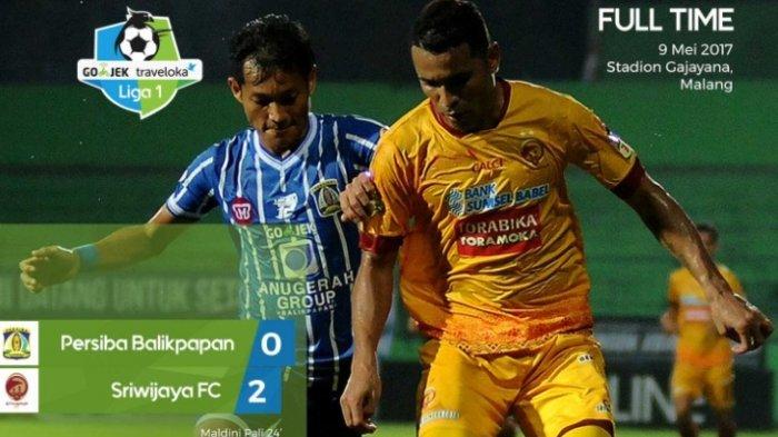 Persiba Balikpapan vs Sriwijaya FC: Dua Gol Disarangkan ke Gawang Persiba