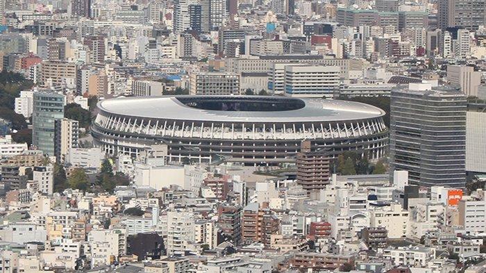 Desain Stadion Olimpiade Tokyo 2020 yang lama karya Zaha Hadid yang kemudian dibatalkan dan diganti dengan karya Kengo Kuma.