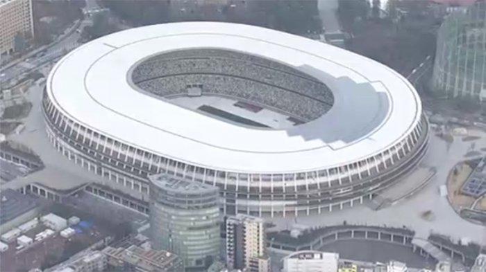 Stadion olahraga Olimpiade Jepang yang baru di Tokyo