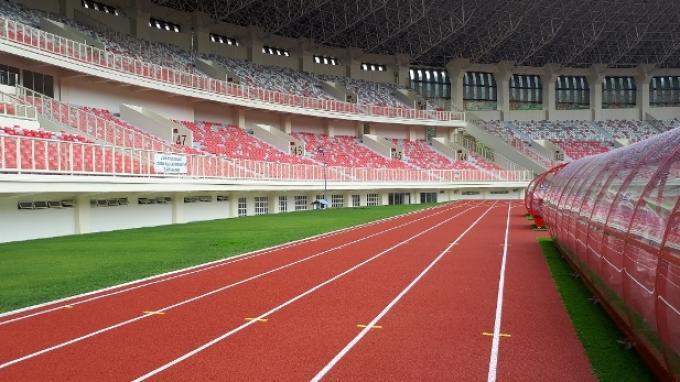 Stadion Papua Bangkit, salah satu venue berstandar internasional yang akan digunakan untuk perhelatan PON Papua.