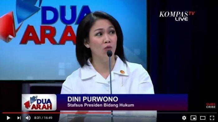 Staf khusus Presiden Jokowi Dini Purwono (Tangkapan Layar YouTube Kompas TV)