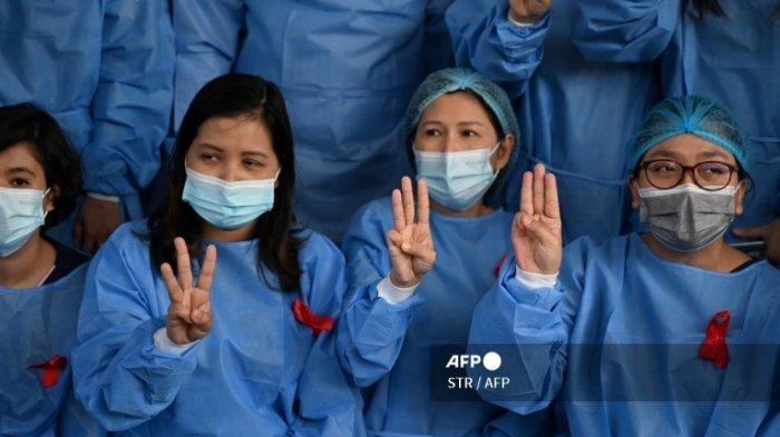 Tenaga Medis dari 70 Rumah Sakit di Myanmar Mogok Kerja sebagai Bentuk Protes atas Kudeta Militer