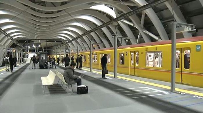 Stasiun Shibuya bawah tanah yang baru diresmikan Jumat (3/1/2020).
