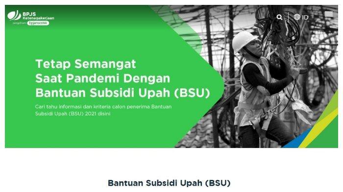 Status Calon Penerima Bantuan Subsidi Gaji/Upah (BSU).