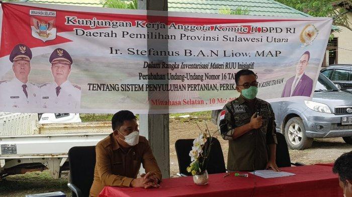 Senator SBANL Serap Aspirasi Pelaku Pertanian Sulut