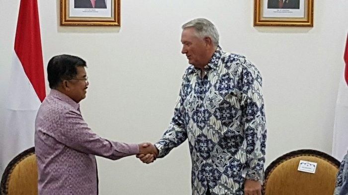 Temui Wapres Jusuf kalla, Bos Chevron Presentasi Bisnis Eksplorasi Migasnya di Indonesia