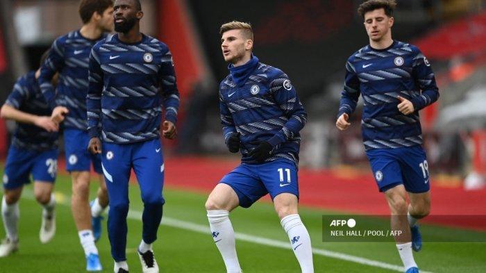 SUSUNAN PEMAIN & Link Live Streaming Chelsea vs Everton, Kai Havertz & Werner Starter