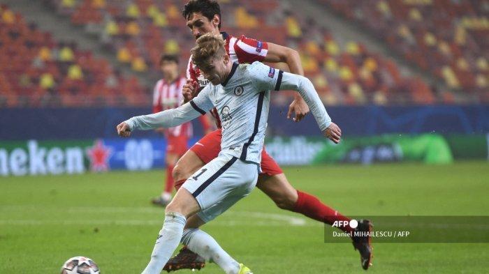 HASIL Babak Pertama Atletico Madrid vs Chelsea, Peluang Emas Werner Digagalkan Oblak, Skor 0-0