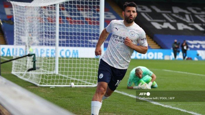HASIL Liga Inggris: Aguero Akhiri Paceklik Gol Selama 1 Bulan, Pelatih Manchester City Beri Pujian