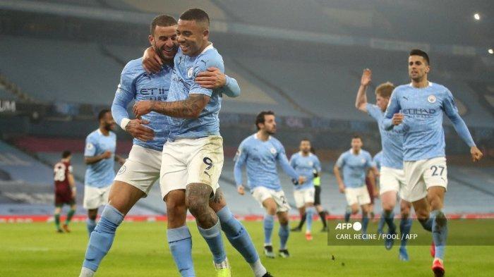 HASIL LIGA INGGRIS: Wolves Gagal Bendung Kemenangan Manchester City, Gabriel Jesus Digdaya