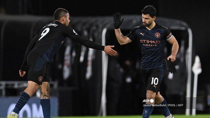 HASIL Liga Inggris - Puasa Gol Aguero Terhenti, Manchester City Menang 3-0