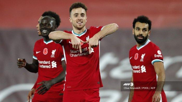 Live Streaming TV Online Mola TV, Liverpool vs Leicester City, Salah Covid-19, Diogo Jota Starter