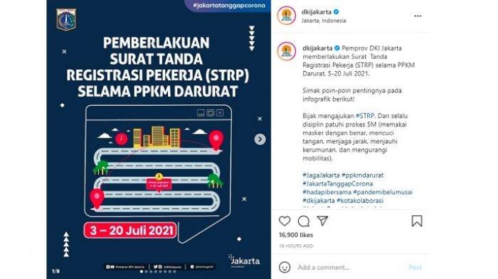 Cara Membuat STRP, Syarat Akses Pekerja Keluar Masuk DKI Jakarta Selama PPKM Darurat 3-20 Juli 2021