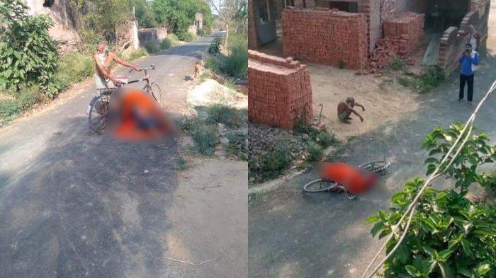 Pria India Bawa Jasad Istri yang Positif Covid-19 dengan Sepeda, Ditolak Warga karena Takut Tertular