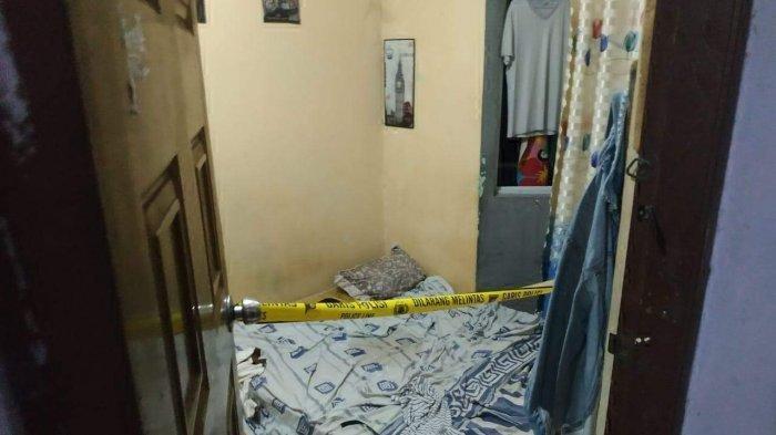 Lokasi pembunuhan seorang Ibu rumah tangga di Kelurahan Kabil Kecamatan Nongsa, Batam meninggal dunia yang dibunuh suaminya sendiri, Kamis (27/5/2021).