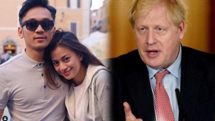 Suaminya Jadi Polisi menjaga PM Inggris yang Positif Covid-19, Angie Virgin Ketakuan Hal ini (kolase Instagram @angie_virgin/Twitter @boris_johnson)