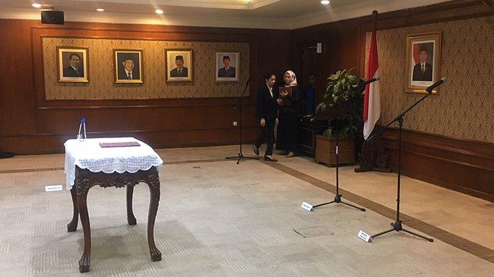 Suasana Kemenpan-RB Jelang Sertijab Asman Abnur kepada Komjen Syafruddin