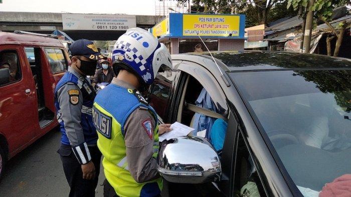 Hari Kedua Larangan Mudik, Pos Penyekatan di Bawah Tol Bitung Tangerang Sepi Pemudik