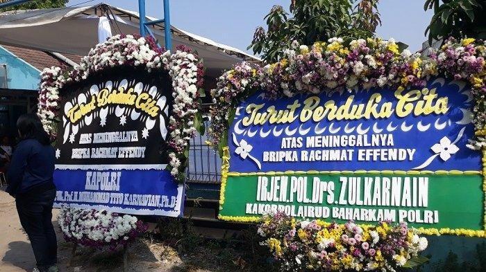 Suasana di sekitar rumah duka Brigadir RE di Tapos, Depok, Jumat (26/7/2019).