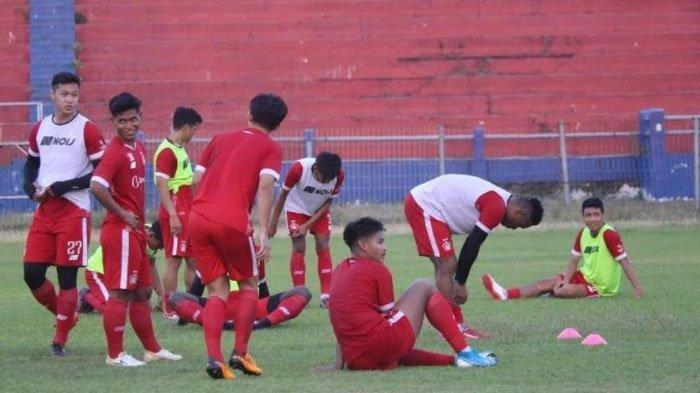 Suasana Latihan Persik Kediri di Stadion Brawijaya Kediri