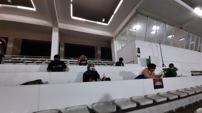 Suasana pertandingan uji coba Timnas U-23 vs Tira Persikabo