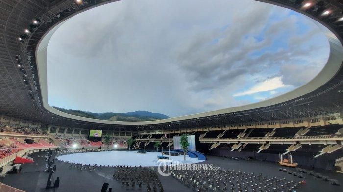 BERITA FOTO: Megahnya Stadion Lukas Enembe Lokasi Pembukaan PON XX Papua