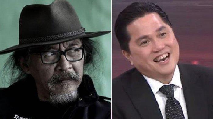 Karni Ilyas Tertegun, Sujiwo Tejo Desak Erick Thohir Berhenti Jadi Menteri dan Begini Reaksi Erick