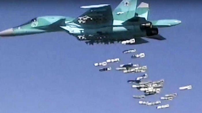 Serangan Jet Tempur Rusia Hantam Kamp Pemberontak Suriah