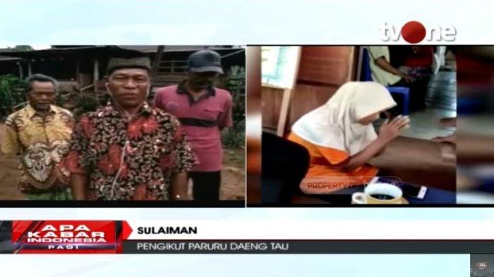 Sulaiman, satu di antara pengikut aliran sesat yang diajarkan oleh Paruru Daeng Tau di Tana Toraja.