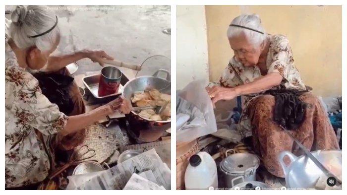 Nenek 88 Tahun di Solo Tetap Jualan Gorengan, Didoakan Selalu Sehat dan Panjang Umur