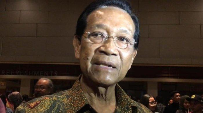 Gubernur Jogjakarta Sri Sultan Hamengkubuwono di Empire XXI, Selasa (13/8/2019).