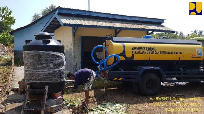 Kementerian PUPR Fungsikan 15 Sumur Bor dan Pompa untuk Pengungsi Gempa Lombok