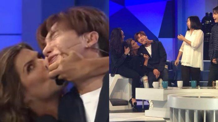Tampil di Acara TV Meksiko, Leeteuk & Siwon Super Junior Dicium Paksa oleh Pembawa Acara
