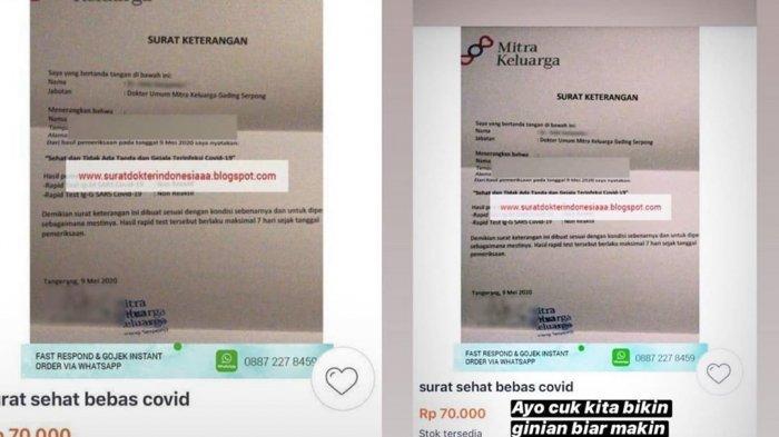 7 Penjual Surat Keterangan Bebas Covid-19 Palsu Jadi Tersangka, Pelaku Raup Untung Rp 300 Ribu