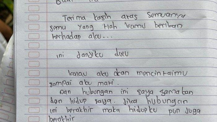 Sepucuk Surat Buat Mantan Jadi Petunjuk Alasan Remaja Putri 17 Tahun Gantung Diri di Tanah Toraja