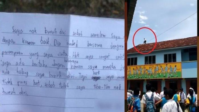 Kaleidoskop 2019, Patah Hati Ditikung Teman Sendiri, Bocah 13 Tahun Nyaris Loncat dari Atap Sekolah