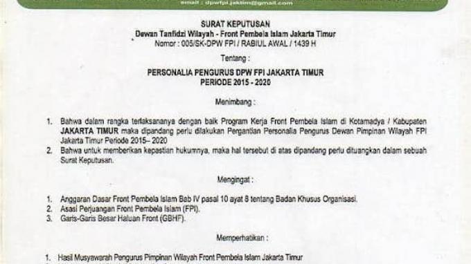 Pengacara Rizieq Tegaskan Terduga Teroris HH Sudah Dikeluarkan dari FPI sejak 2017